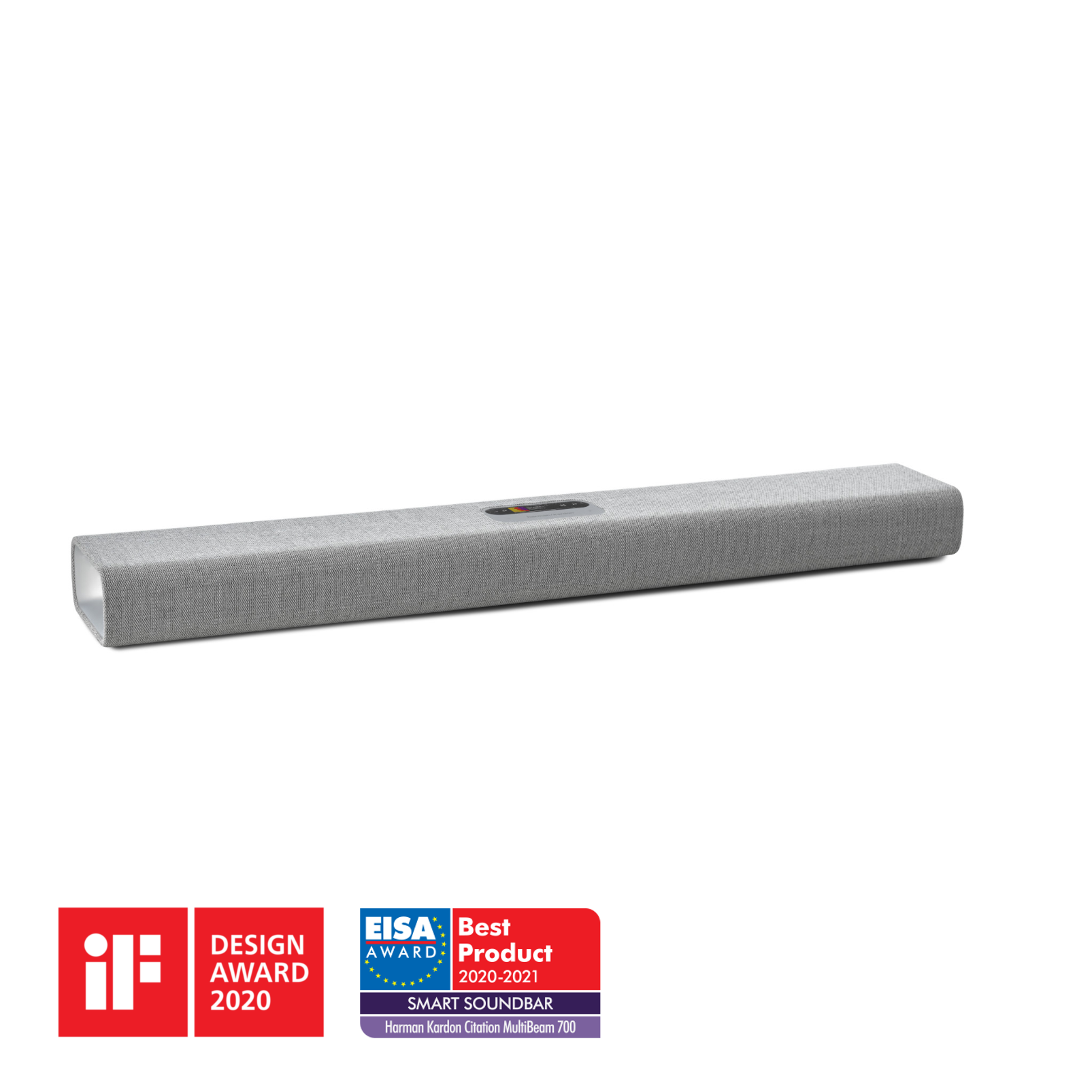 Harman Kardon Citation MultiBeam™ 700 - Grey - The smartest, compact soundbar with MultiBeam™ surround sound - Hero