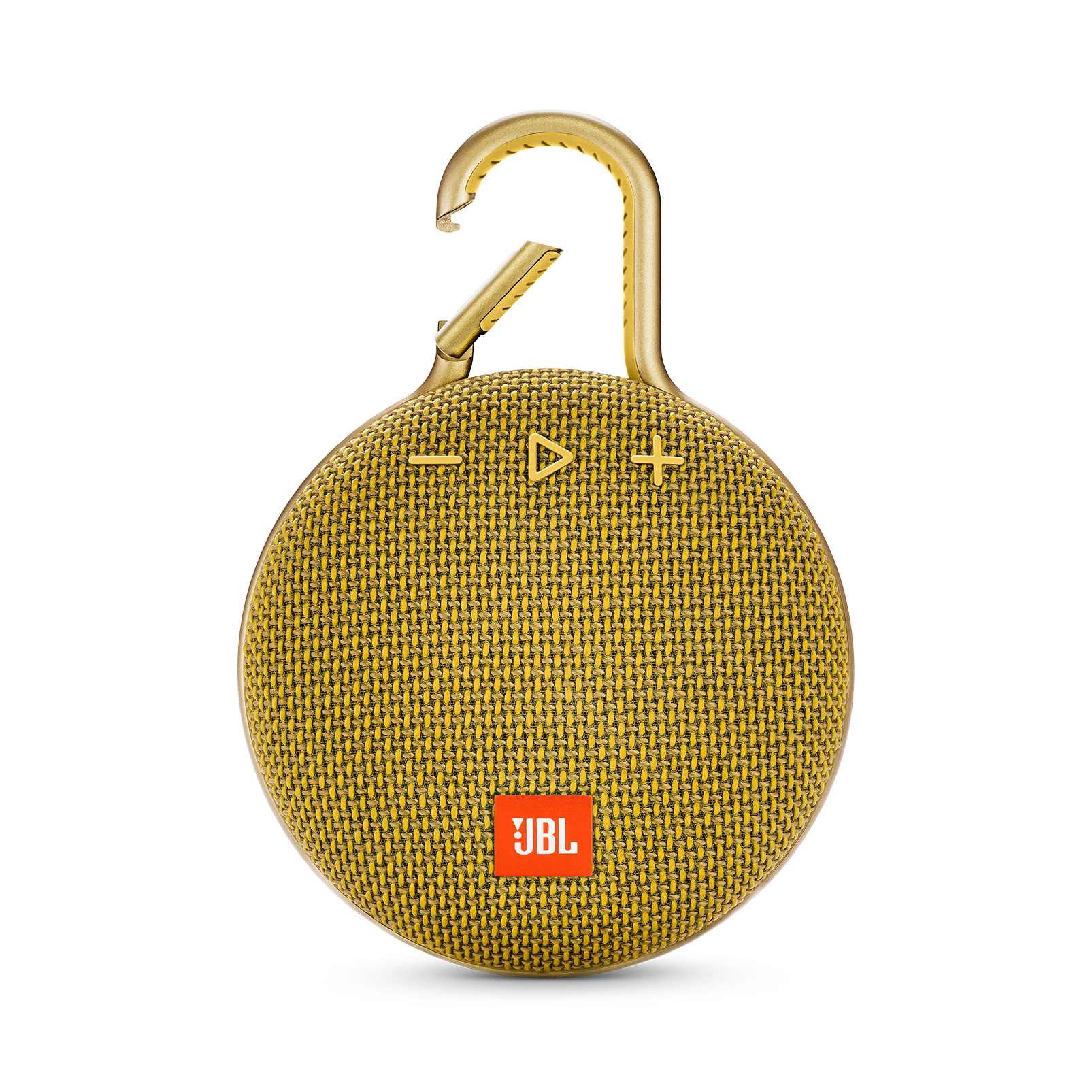 JBL CLIP 3 - Mustard Yellow - Portable Bluetooth® speaker - Front