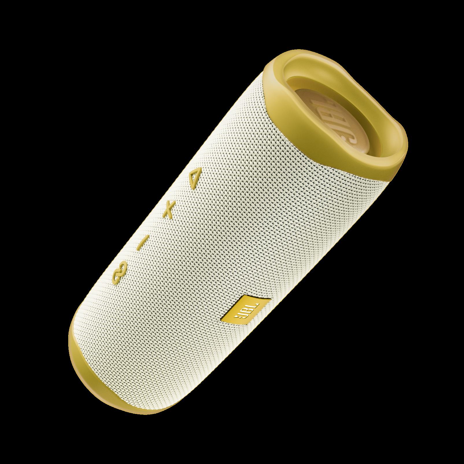 JBL Flip 5 Tomorrowland Edition - Gold/White - Portable Waterproof Speaker - Front