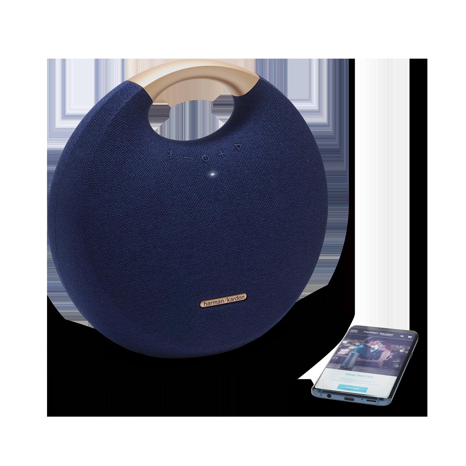 Onyx Studio 5 - Blue - Portable Bluetooth Speaker - Detailshot 1