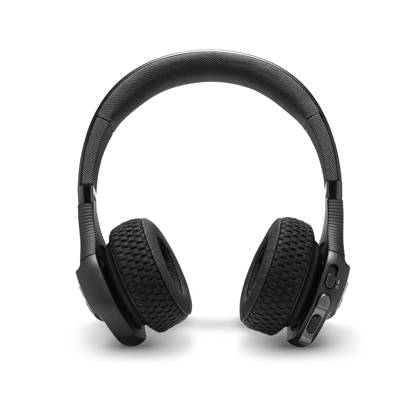 UA Sport Wireless Train – Engineered by JBL - Black - Wireless on-ear headphone built for the gym - Front