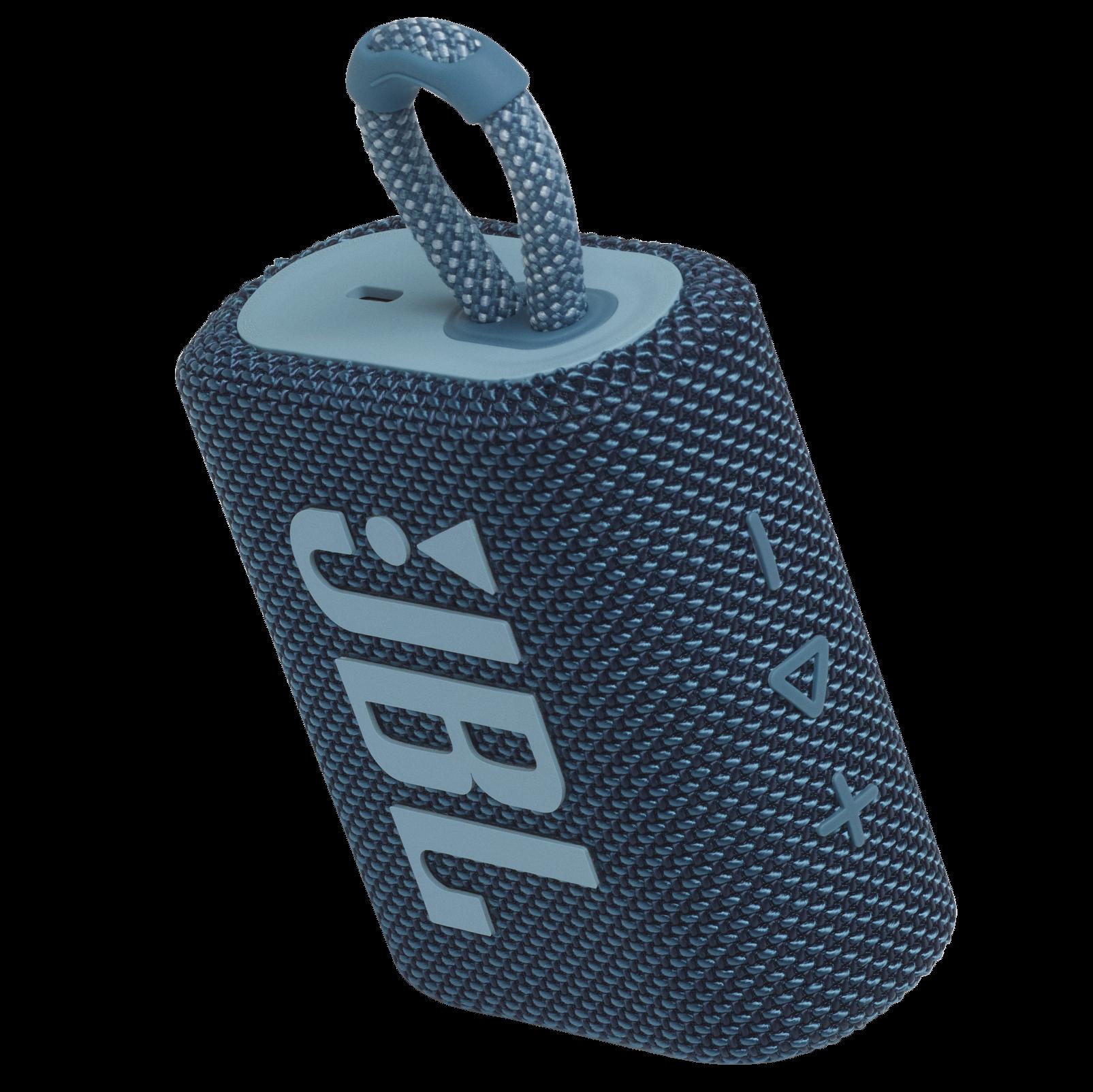 JBL Go 3 - Blue - Portable Waterproof Speaker - Detailshot 2