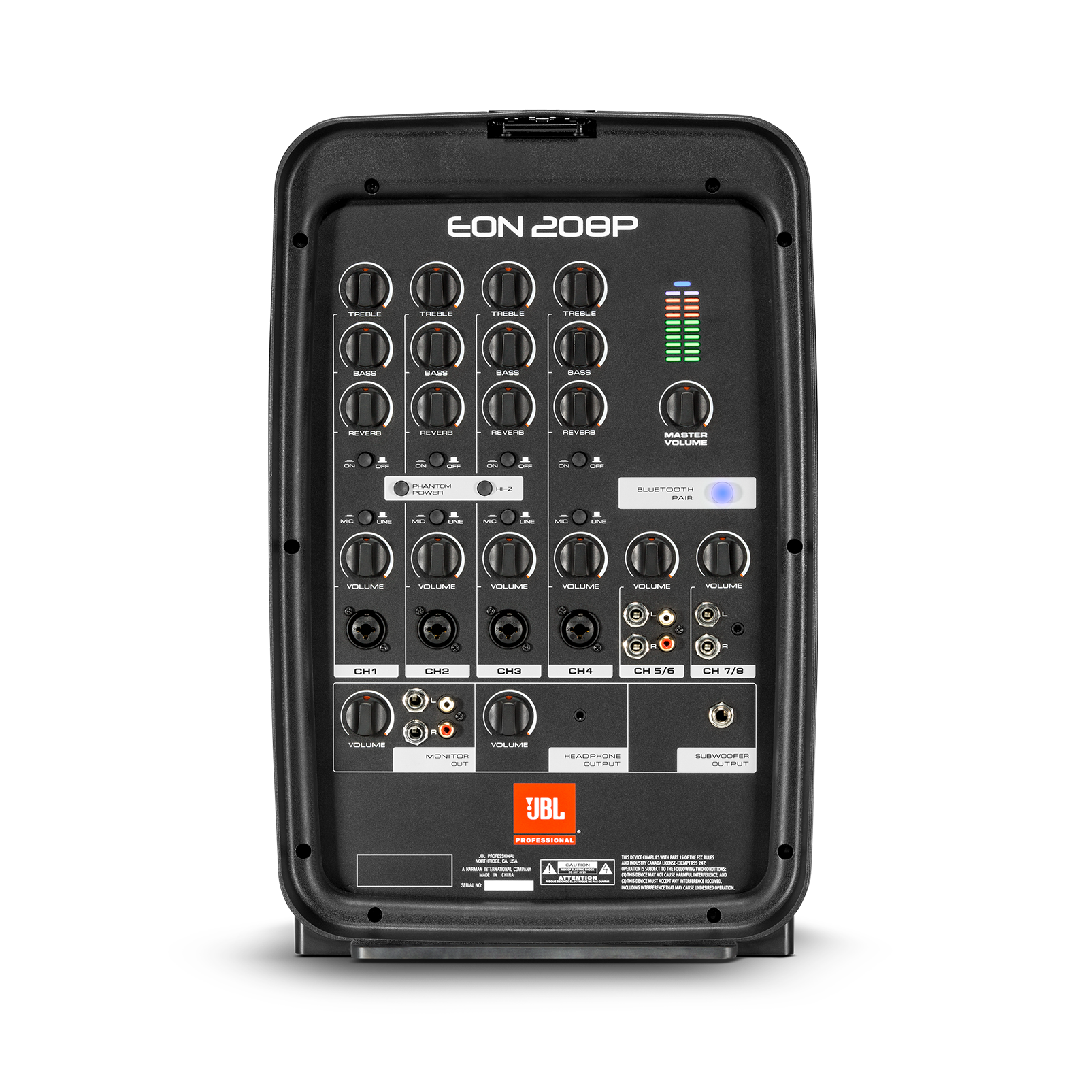 "JBL EON208P - Black - Portable 8"" 2-Way PA with Powered 8-Channel Mixer and Bluetooth® - Detailshot 1"