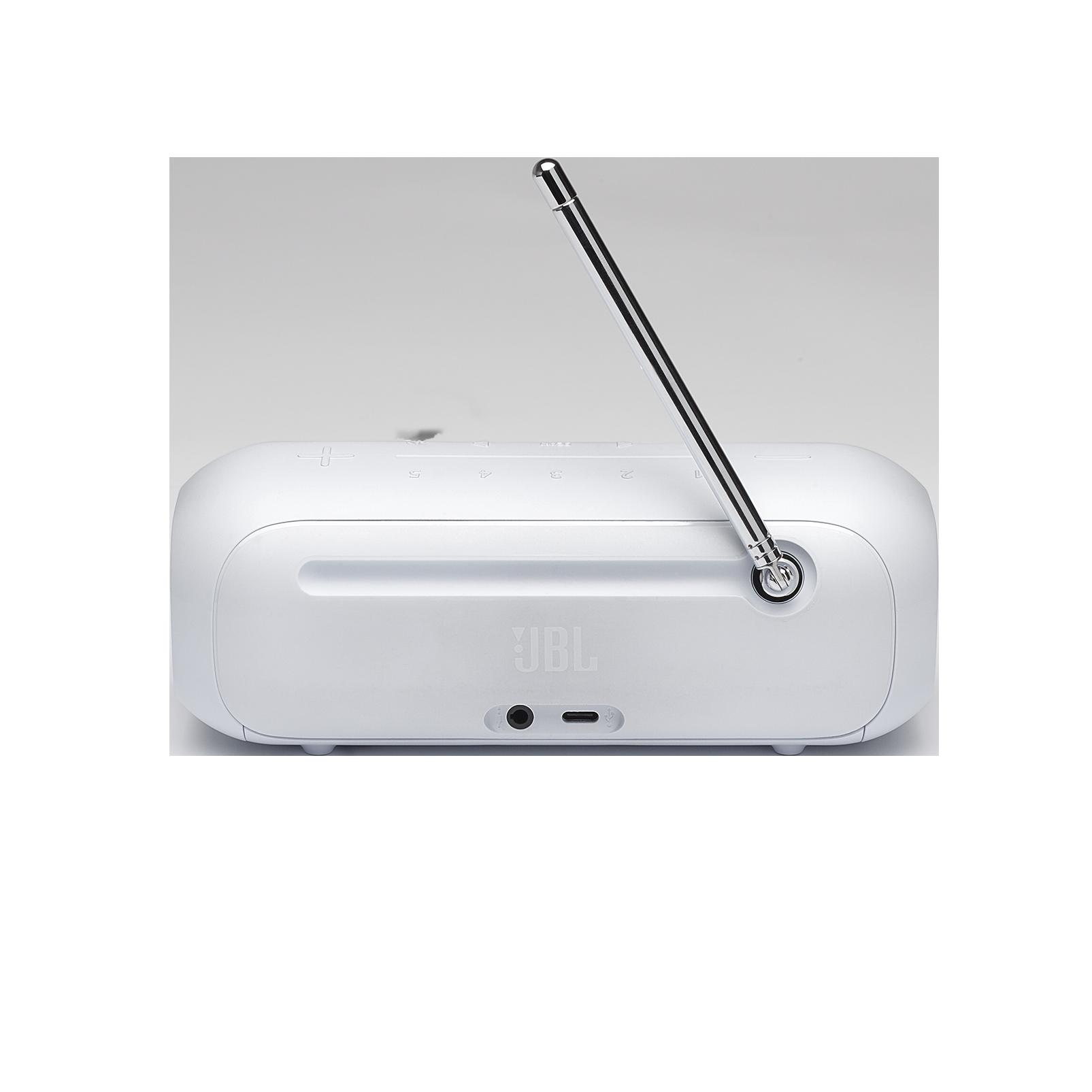 JBL Tuner 2 - White - Portable DAB/DAB+/FM radio with Bluetooth - Back