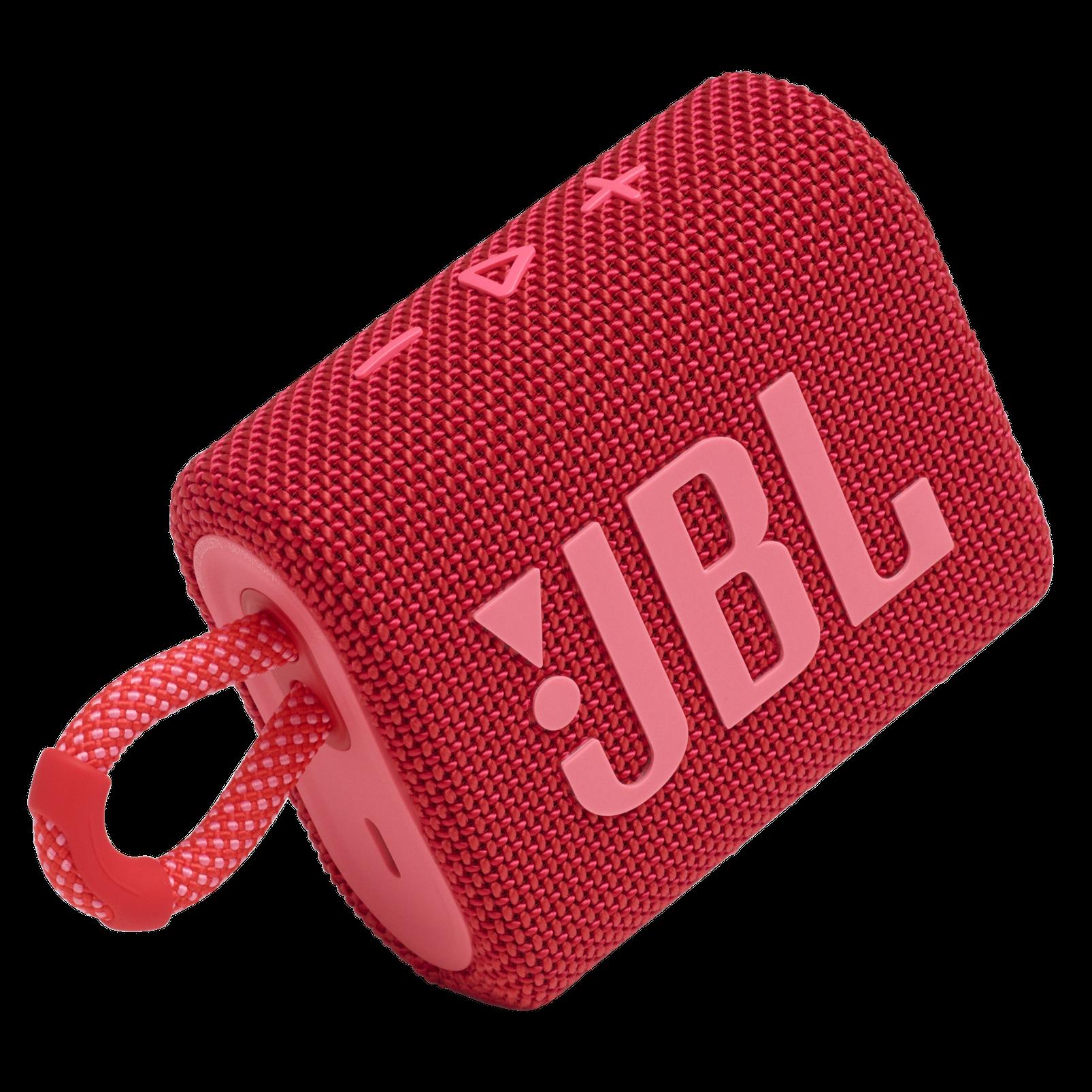 JBL Go 3 - Red - Portable Waterproof Speaker - Detailshot 1