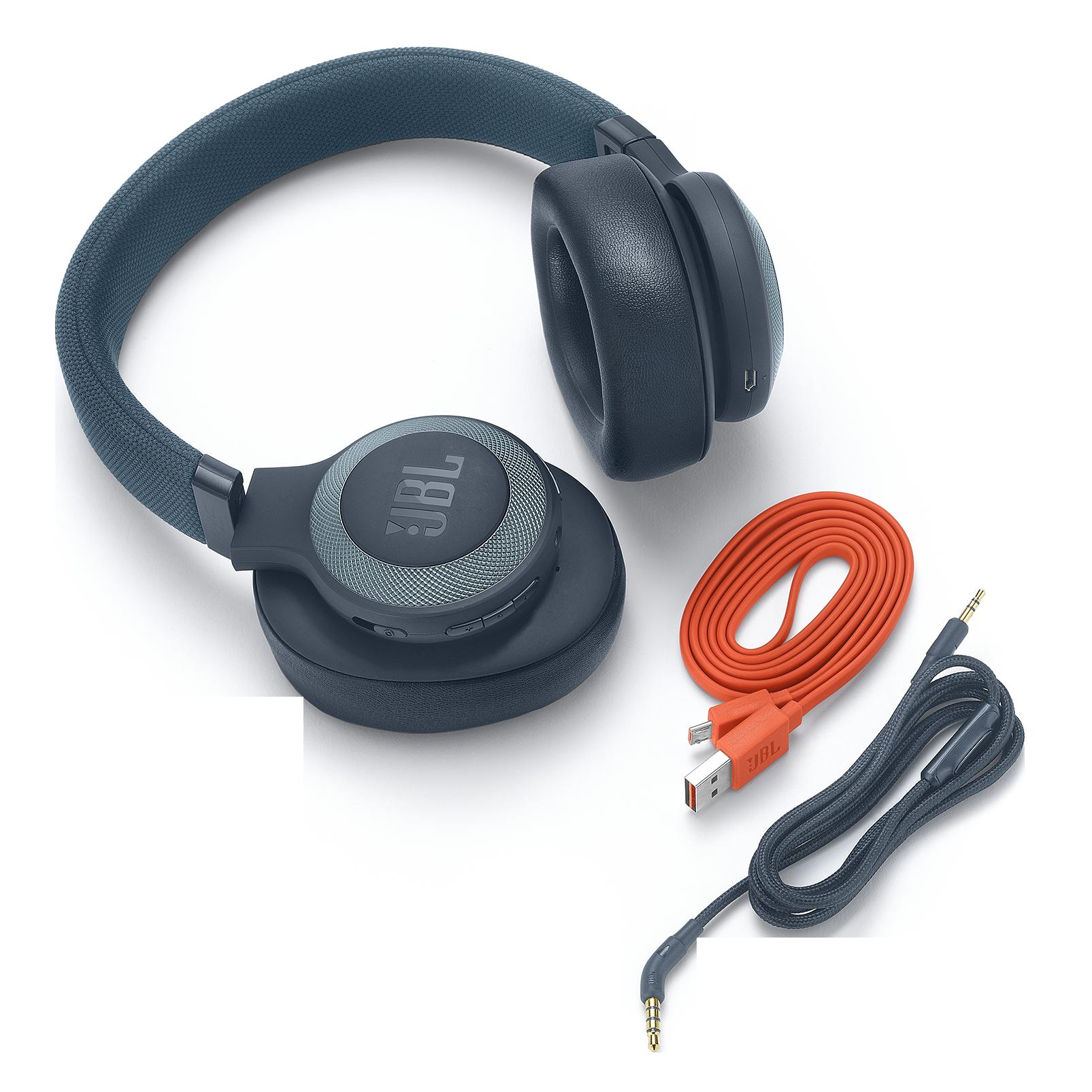 JBL E65BTNC - Blue - Wireless over-ear noise-cancelling headphones - Detailshot 3