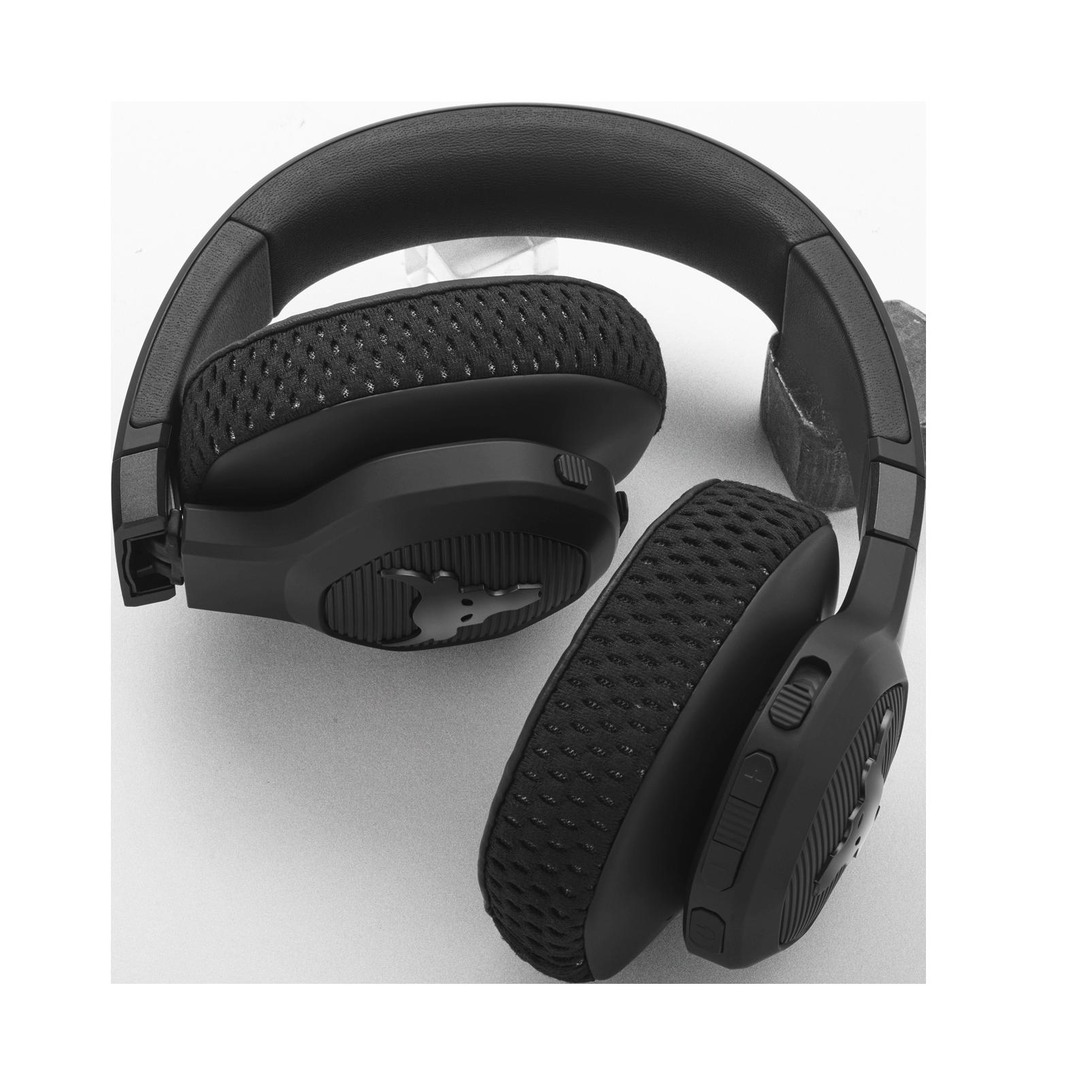 UA Project Rock Over-Ear Training Headphones - Engineered by JBL - Black - Over-Ear ANC Sport Headphones - Detailshot 2
