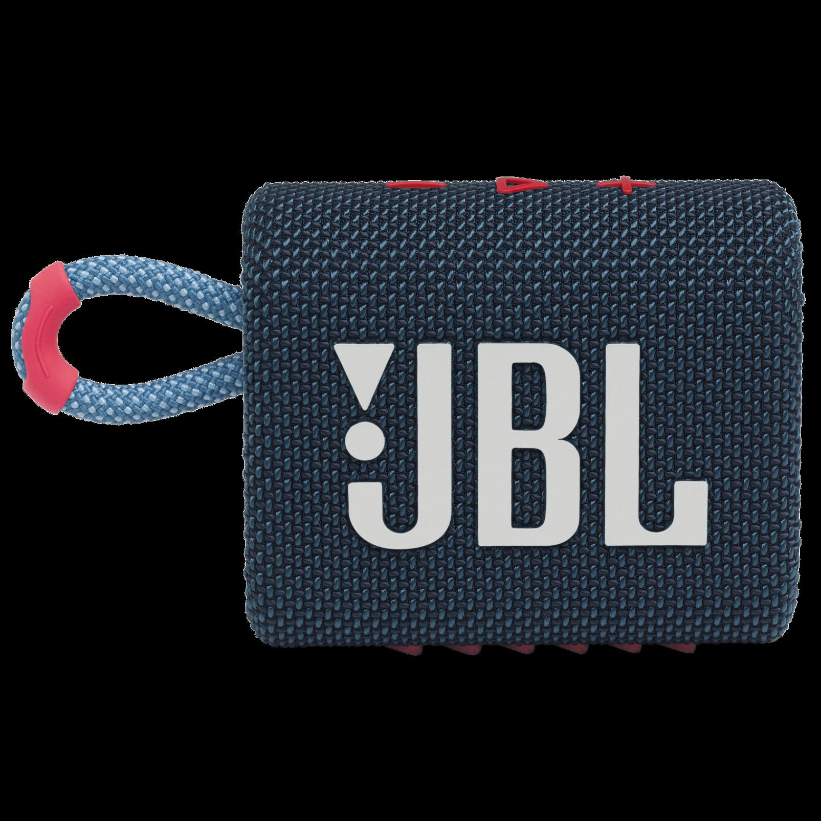 JBL Go 3 - Blue / Pink - Portable Waterproof Speaker - Front